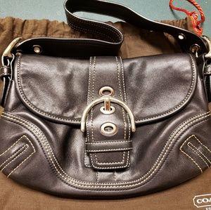 Authentic Vintage Coach Black Leather Purse